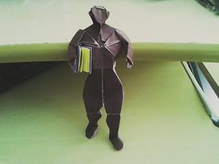 Man walking with a Book (David Brill)
