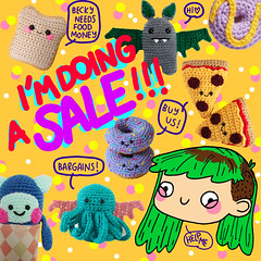 (beckygarratt) Tags: etsy sale crochet amigurumi beckygarratt drawing illustration cartoon cute kawaii colourful handmade