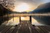 Into the dawn (Diego Pianarosa (aka Pinku)) Tags: diegopianarosa pinku lake dawn alba sunrise colors pier water acqua porticciolo pontile nebbia fog haze