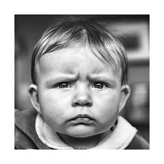 Jeanne... 5 months. (jean76_58) Tags: pentax portrait regard blackwhite bw noirblanc nb monochrome monotone people baby bébé look