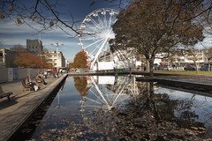 Civic Center pond (Peter Trott) Tags: pond wheel reflections autumn explore plymouth uk