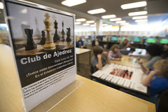 Chess Club at Eckstrom-Columbus Library (Pima County Public Library) Tags: pimacountypubliclibrary eckstromcolumbuslibrary pcplphotolibrary flyer flier games gaming boardgame chess adults teens kids children indoors