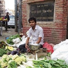 old delhi 2015 (gerben more) Tags: olddelhi newdelhi delhi india man stubbles handsomeman youngman vegetables market