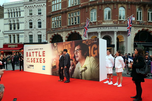 Billie Jean King - Valerie Faris and Jonathan Dayton on the red carpet at the Battle of the Sexes gala screening at the BFI London Film Festival 2017