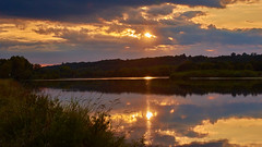 Impressions of the river (flowerikka) Tags: clouds evening eveningmood france impressionen loire mirror reflection river sky sunset water