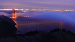 Blue Magic (Andrew Louie Photography) Tags: golden gate bridge fog blue magic andrew louie san francisco low sfo