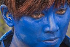 2017WLS-87 (stevefge) Tags: 2017 arnhem livingstatues worldlivingstatues nederland netherlands nl nederlandvandaag gelderland people candid schmink faces reflectyourworld blue eyes