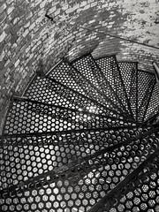 Spiraling down (dylangaughan43) Tags: blackandwhitephotography blackandwhite lg cameraphone lighthouse newyork fireisland fireislandnationalseashore