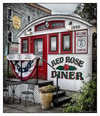 Red Rose Dinner (GAPHIKER) Tags: redrosedinner red rose dinner rt6 towanda pennsylvania 1927 ladiesinvited ladies invited endlessmountains endless mountains bw selectivecolor sc