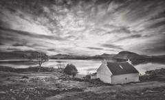 Location Location Location (Captain Nikon) Tags: lochshieldaig loch scotland nc500 northcoast500 scottishhighlands cottage moody mono blackandwhite reflections greatbritain uk roadtrip