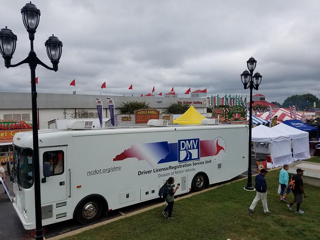 View Of NCDMV RV From Dorton Arena (NCDOTcommunications) Tags: Nc Ncdmv Dmv  Northcarolina