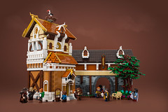 The Royal Academy (roΙΙi) Tags: ninekingdoms roguebricks medieval castle academy tree foliage afol lego building library