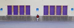 Middle Man (Alex L'aventurier,) Tags: essaouira maroc morocco street rue urban urbain city ville homme man geometry géométrie centre middle milieu mauve purple candid symmetry
