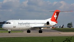 HB-JVC (AnDyMHoLdEn) Tags: helvetic fokker egcc airport manchester manchesterairport 23l