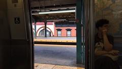 Myrtle Avenue-Broadway, Bushwick, Brooklyn, NY (Blinking Charlie) Tags: mtrain mta myrtleavenuebroadway subway el bushwick brooklyn newyorkcity nyc newyork usa 2017 instagramstories iphonese blinkingcharlie