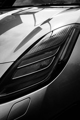 Jaguar Headlights (Edd144) Tags: nikon d7100 sigma 1835 18 hinckley car show classic cars morot vehicle cycle motorbike motorcycle automobile black white sepia old fashioned jaguar headlight