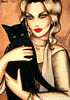 With my cat (Ekaterina Moré Art) Tags: art kunst ekaterinamore icons magicofbeauty women woman lady fashion foto photo wine redwine bar coffee photoshoot paintings malerei simplybeautiful artgallery artfair painter artiststudio artcollection femininity frau portrat portrait model models fashionphotografie exhibition event