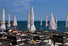 Walking in San Remo (In.Deo) Tags: sanremo liguria italy street beach seaside umbrella