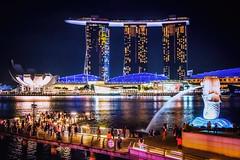 Merlion Park (Bobby Palosaari) Tags: merlion singapore esplanade highrise icon marina pier sightseeing skyline