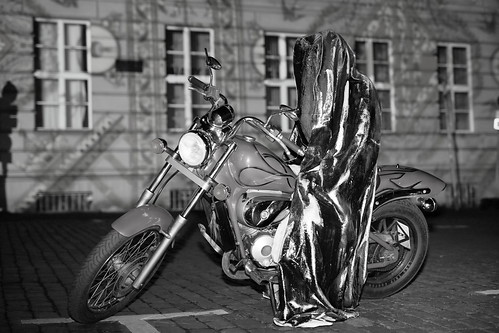 Berlin - Festival of Lights - Time Traveler - Guardian rider - B&W [2/2]