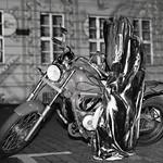 Festival of Lights - Time Traveler - Guardian rider  - B&W [2/2] thumbnail