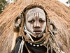 Mursi Girl (Rod Waddington) Tags: africa african afrique afrika äthiopien ethiopia ethiopian ethnic etiopia ethnicity ethiopie etiopian omo omovalley outdoor omoriver mursi tribe traditional tribal portrait people painted face beads horns hut village