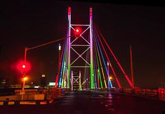 Mandela Bridge, Braamfontein Johannesburg (Paul Saad) Tags: johannesburg night longexposure nelsonmandela nelsonmandelabridge bridge colors lights red nikon flickr