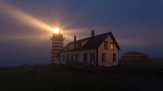 West Quoddy Head in the Early Morning Fog