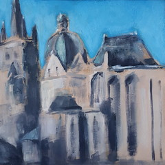 Der Dom - The Cathedral (Aachen) [20170912] 20170912_155317 (rodneyvdb) Tags: aachen aachenerdom abstracted art cathedral church contemporary city cityscape dom domaachen explore expression expressionism fineart impressionism kirche modernart painting