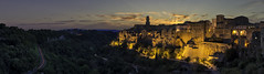 Pitigliano (timfeld1) Tags: sunset long exposure green orange yellow red warm old town italien italy cliff platoo plateau evening classic