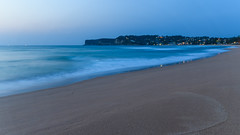 Dawn Seascape with Headland (Merrillie) Tags: daybreak sand landscape northavocabeach nature avocabeach newsouthwales sea nsw beach scenery longexposure centralcoast earlymornings dawn seascape outdoors waterscape water coast headland australia