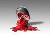 Meltdown! (MixPix ) Tags: coke cocacola red can melting hot paint drip studio strobist melt metal abstract still life wax tin