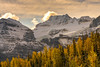 Fay Glacier amongst the Ten Peaks (www.mikereidphotography.com) Tags: larches fallcolors autumn canada canadianrockies lakemoraine larchvalley sentinelpass 85mm otus zeiss mirrorless a7r2 landscape golden