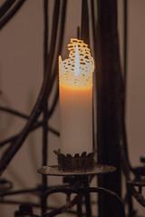 Visby domkyrka - candle (Yvonne L Sweden) Tags: churchinterior höst sweden candle visby gotland october autumn