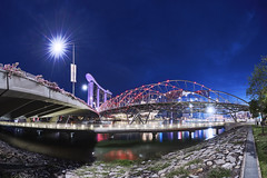 2017-Spet-30 5D4 1124 BlueHr Below Helix Bridge 7B1A2602 Panorama (yimING_) Tags: panorama fanotec landscape cityscape helixbridge marinabaysands marinabayfinancialcentre esplande fullertonhotel fullertonbayhotel sunset bluesky bluehour