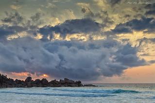 Sunrise at Grand Anse, La Digue