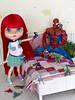 De mayor quiero ser... super heroe (Heniferu) Tags: heniferu shisencolors marvel spiderman ariel disney toy pureneemo blythe blythecustom customblythe takaratomy