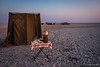 Ablutions block at sunrise (NettyA) Tags: 2017 africa botswana makgadikgadibasin menoakwena ntwetwepan saltpan sunrise travel ablutions tent