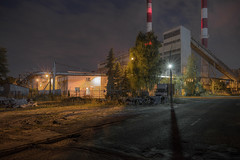 Night lights and chimneys by Markus Lehr - Katovice, Poland – 2017, July 18  website I facebook I instagram I publications & exhibitions  © 2017 Markus Lehr