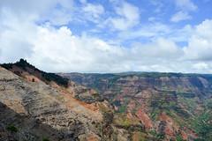 2 world's (*~Dharmainfrisco~*) Tags: dharma dharm dharmainfrisco hawaii kauai waimea canyon look out national park usa travel island mountains blue skies sky green waterfall tour 2015