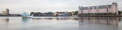 Bjørvika panoramic view (HansPermana) Tags: oslo norway norwegen norge longexposure autumn cloudy cloud city cityscape citycenter water reflection panorama panoramic bjørvika eniro