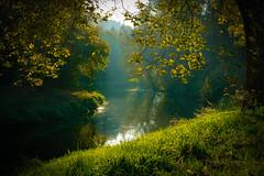 Magic river (Sommer, Peter) Tags: nidda eveningsun grün river a6300 reflection spiegelung abendsonne sony sundown sel1670z green verde