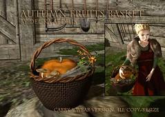 Autumn Fruits Basket Gift @ Redeux (nea.narstrom) Tags: delkaaedilis sales redeux medieval vikings north norse rustic market autumn