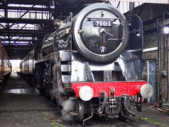 Southall West London 11th October 2017 (loose_grip_99) Tags: london 5305la 70013 462 pacific olivercromwell railway railroad rail train steam engine locomotive gassteam uksteam trains railways mainline transportation october 2017 shed mpd depot southall