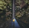 Disoriented (Cambiguous) Tags: cambiguous mike morash photographer victoria bc yyj vancouver yvr dji spark aerial perspective bending visual art yellow green forest bridge path composite abstract self portrait