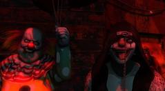 Just Clowning Around (Fraz_Gloom) Tags: sl second life halloween samhain clown photography gabriel mask horror carnival creepy