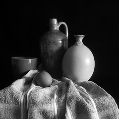 Still Life in Black & White (Smiffy'37) Tags: 7dwf stilllife blackwhite vessels objects closeup textures fineart