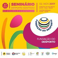 """A Fundação do Desporto é parceira institucional ao 3º Seminário """"Desporto Adaptado: do ensino à competição"""""""