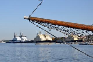 Halkolaituri - the log pier