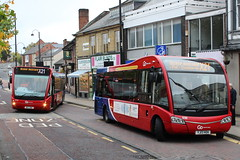 GO NORTH EAST 8326 NK11GWX AND 696 YJ13HOH ARE SEEN SWAPPING X21 TURNS IN CHESTER LE STREET ON 14 OCTOBER 2017 (47413PART2) Tags: yj13hoh nk11gwx gonortheast nebuses
